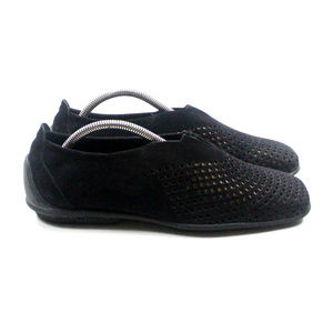ARCHE Perforated Leather Slip-on Shoes Loafers